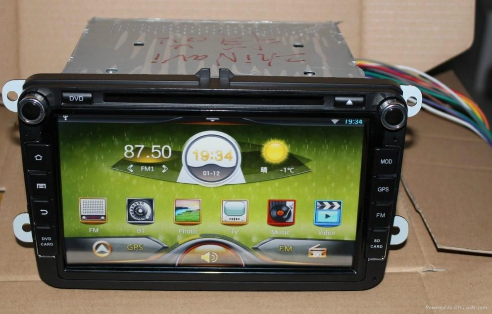 Pure car androd 4.2 OS For VW car dvd player with gps navigation system 1