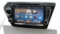 Car Pure android 4.2 os system For kia rio k2 dvd player with gps navigation 1