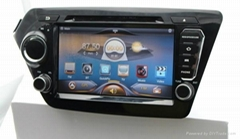 Car Pure android 4.2 os system For kia rio k2 dvd player with gps navigation