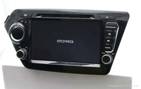 Car Pure android 4.2 os system For kia rio k2 dvd player with gps navigation 2
