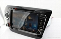 Car Pure android 4.2 os system For kia rio k2 dvd player with gps navigation 3