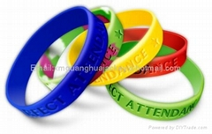 Various colors custom silicone bracelets for hot sell