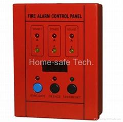 2 Zones Mini Conventional Fire Alarm Control Master Panel