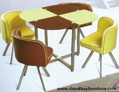 Dining sets one tempered glass table with 4 chairs