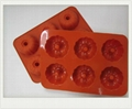 6 cup silicone Cake  Muffin baking mould 1