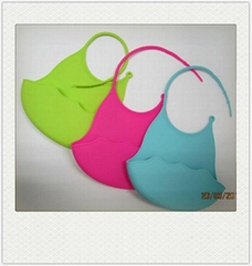 Infant Baby Kid Washable Silicone Feeding Bib