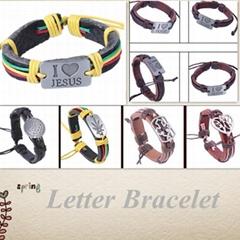 circle letter bracelet