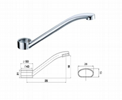 China New Basin Round Faucet Spout
