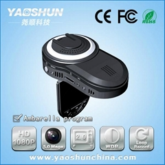 Built-in GPS full HD car DVR