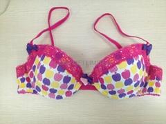 ladies position print moulded bra & brief set