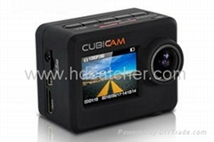 1080p mini action camera/helmet cam with 170 degree field of view