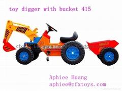 hot sale children ride on car 4 wheel bike mini digger