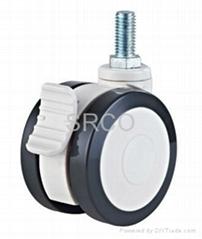 Eu.Double Ball Bearing Plastic Twin Wheels Medical Caster