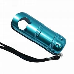 7 led aluminium flashlight with opener