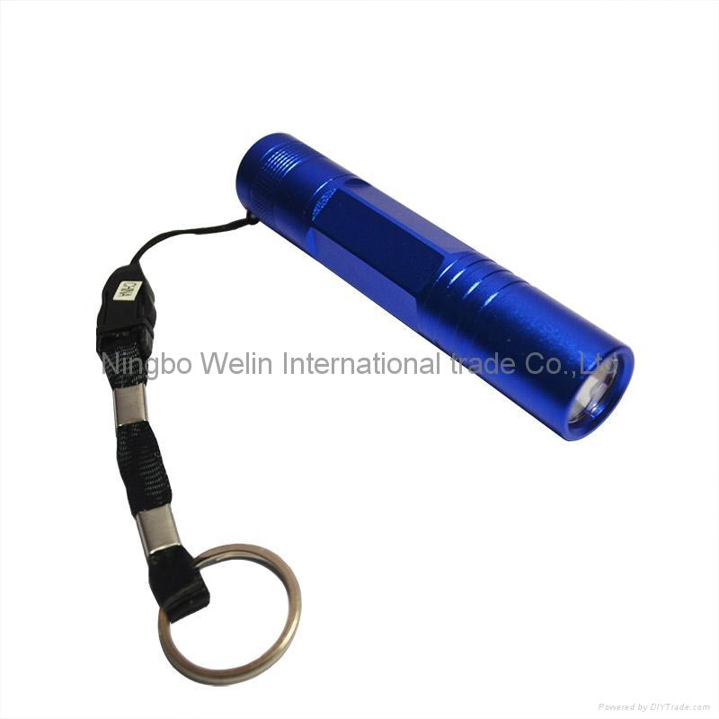 mini aluminum tactical led flashlight 0.5w mini led torch sales promotion led fl 1