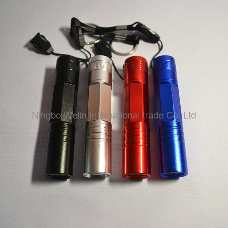 mini aluminum tactical led flashlight 0.5w mini led torch sales promotion led fl 3