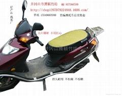 竹编摩托车凉坐垫