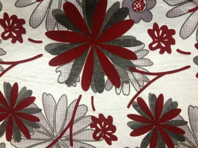 polyester printed flocking fabrics 1