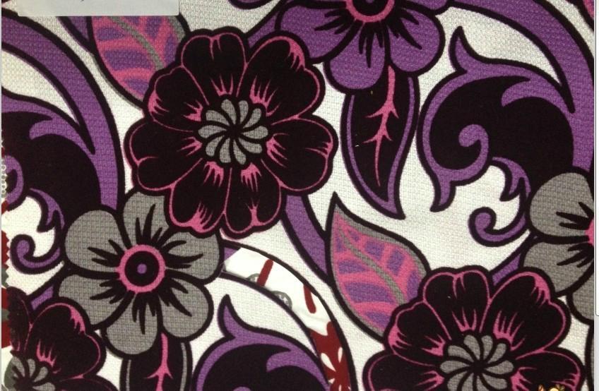 polyester printed flocking fabrics 2