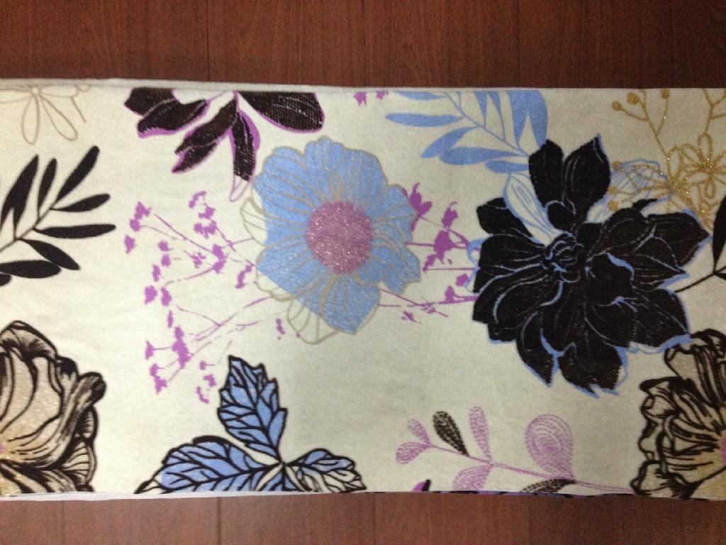 polyester printed flocking fabrics 4