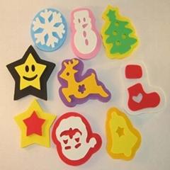 Glitter EVA Foam Stickers, Suitable for Kids' DIY, OEM Orders Welcome,