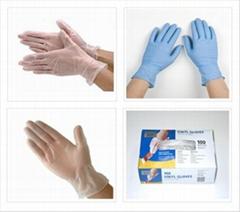 powdered/powder free disposable examination vinyl gloves disposable vinyl gloves