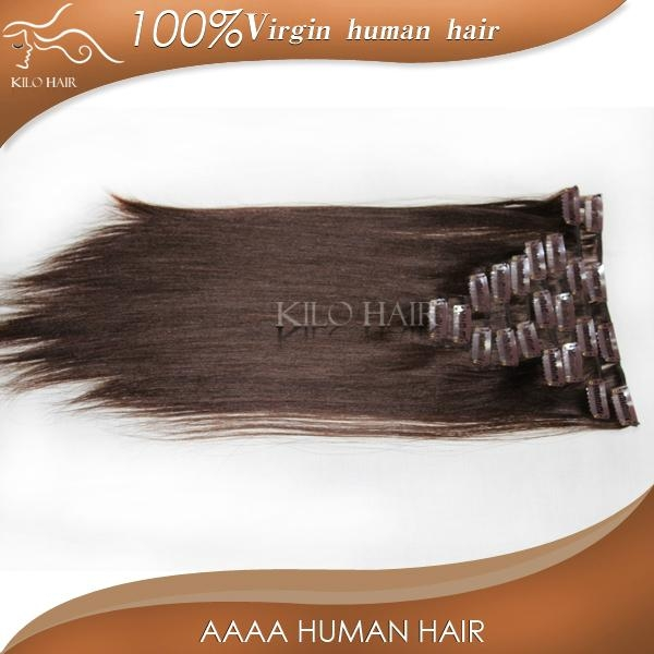 chinese sites virgin unprocessed brazilian clip in human hair extensions  1