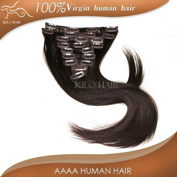 chinese sites virgin unprocessed brazilian clip in human hair extensions  4