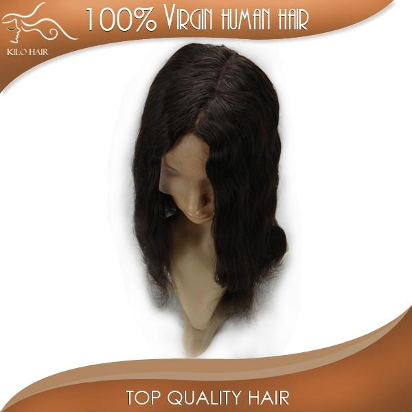 full lace wig body wave 100% original brazilian human hair extensions 3
