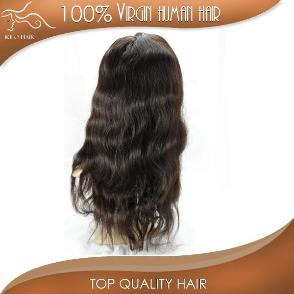 full lace wig body wave 100% original brazilian human hair extensions 5