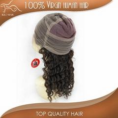 grade AAAAA deep wave full lace wig unprocessed brazilian hair
