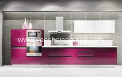 Rose color kitchen cabinet,modern style kitchen cabinet,high quality kitchen cab