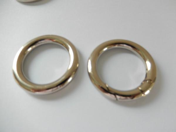 【专业生产】锌合金圆圈扣 箱包手袋圆环扣 合金扁圆圈 优质环保 1