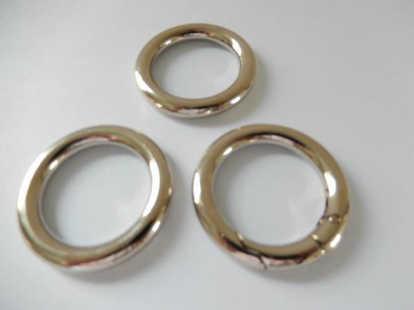 【专业生产】锌合金圆圈扣 箱包手袋圆环扣 合金扁圆圈 优质环保 2
