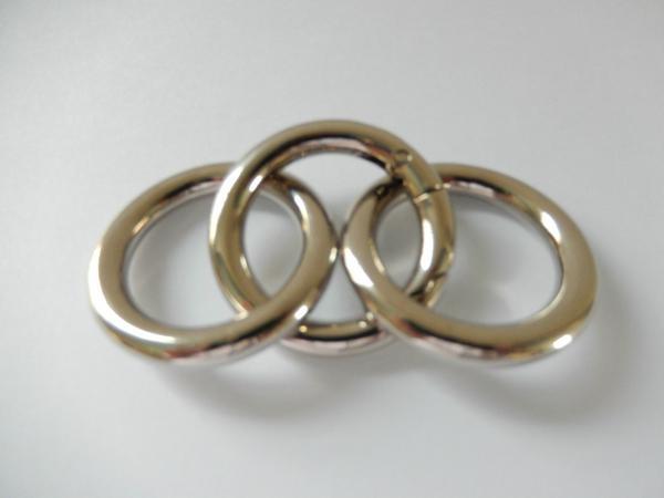 【专业生产】锌合金圆圈扣 箱包手袋圆环扣 合金扁圆圈 优质环保 3