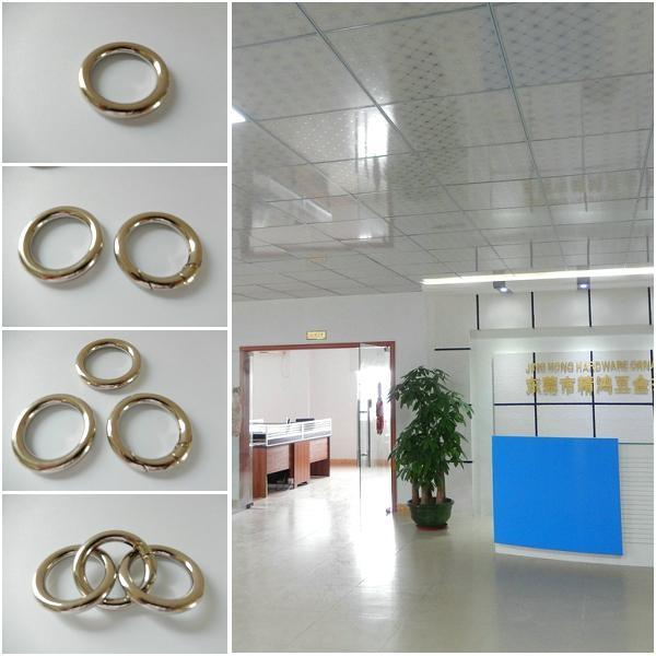 【专业生产】锌合金圆圈扣 箱包手袋圆环扣 合金扁圆圈 优质环保 5