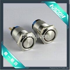 全金屬防水帶LED環狀按鈕開關