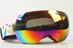 2014 newest design big lens replacement lens ski goggles