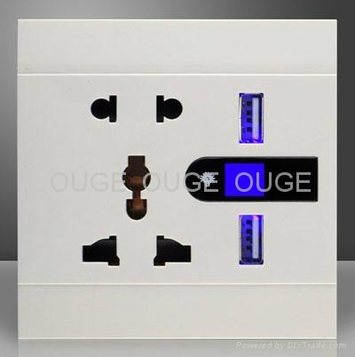 USB Wall Socket with LED light  1