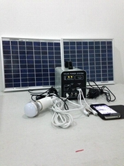 20w-12AH portable DC solar home system