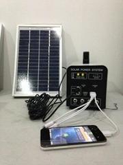 5w-5AH portable DC solar  system