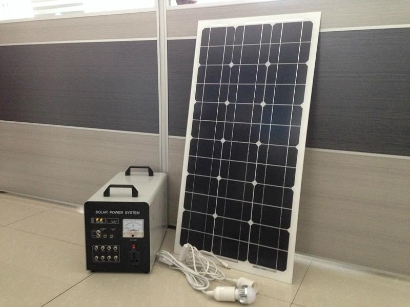 80w-40AH AC&DC solar home systems/80w solar panel input/500w inverter output  1
