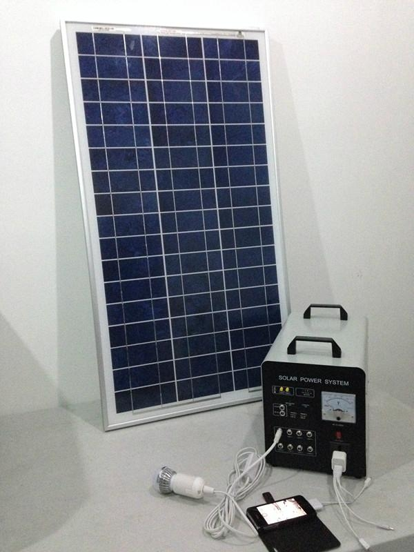 80w-40AH AC&DC solar home systems/80w solar panel input/500w inverter output  4