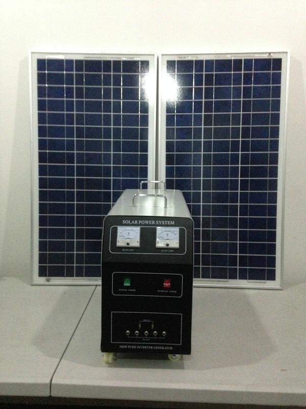 200w-120AH AC&DC solar home system 1