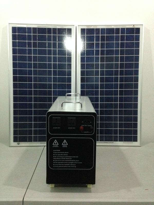 200w-120AH AC&DC solar home system 2