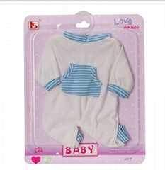 newly design  doll cloths  Baby jumpsuits