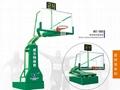 electro-hydraulic basketball stand