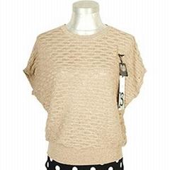 2014春季新款韓版休閑寬鬆蝙蝠短袖圓領女式針織衫