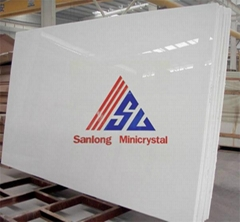 Pure White Artificial Crystallized Glass Stone