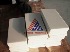 Pure White Artificial Crystallized Glass Stone Floor Tiles